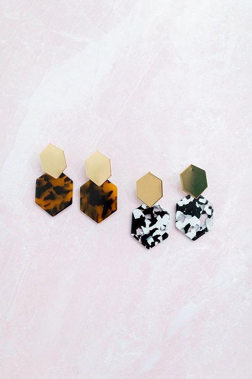 Geometric Drop Earring