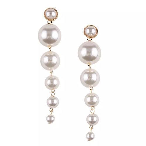 Long Pearl Earring