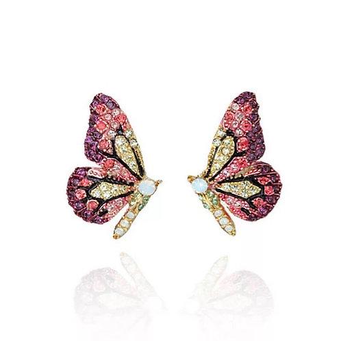 Jeweled Butterfly Stud Earring