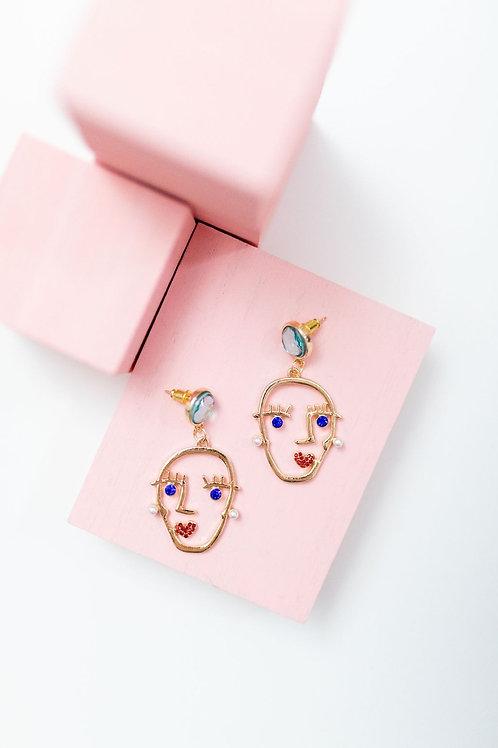 Jewel Face Earring