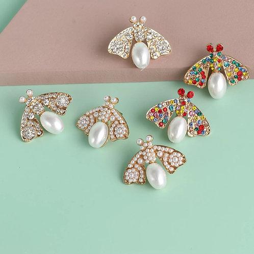 Jeweled Bug Stud Earring
