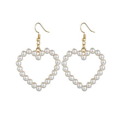 Pearl Heart Earring