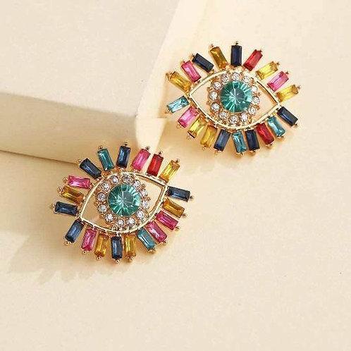 Third Eye Jeweled Stud Earring
