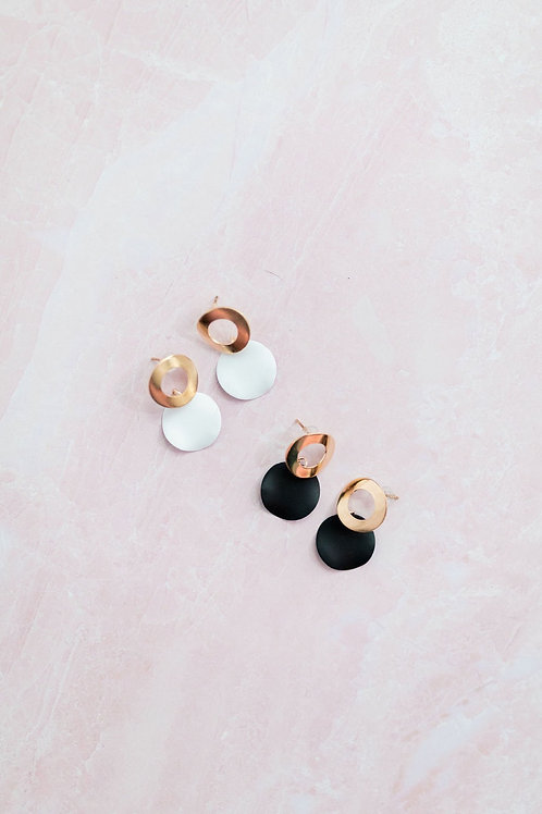 Small Round Drop Earring