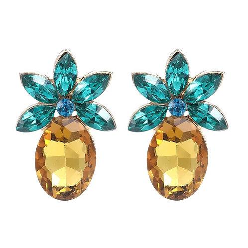 Jeweled Pineapple Stud Earring