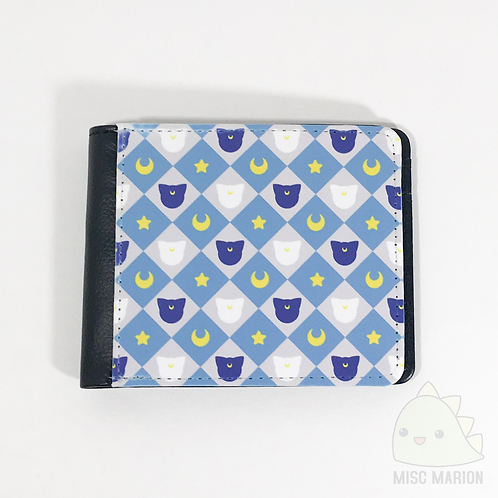 Moon Cats Pattern Bifold Wallet