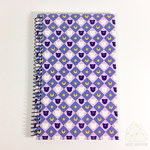 Moon Cats Pattern Notebook