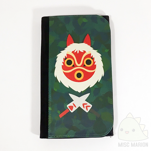 Princess Mononoke Mask Clutch Canvas Wallet