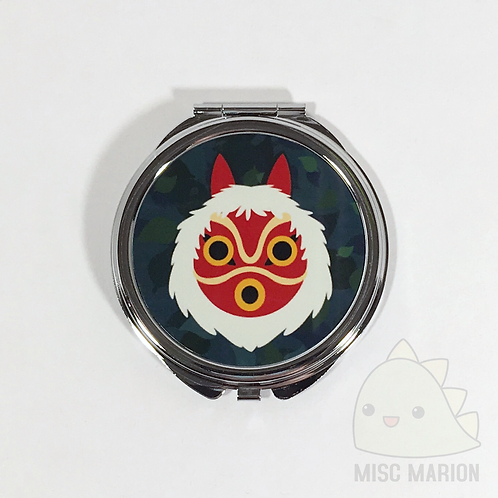 Princess Mononoke Mask Pocket Mirror