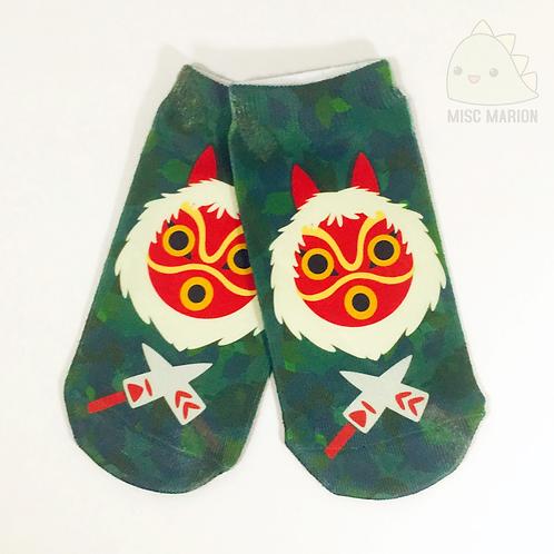 Princess Mononoke No-Show Ankle Socks