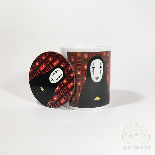 No Face Mug & Coaster Set