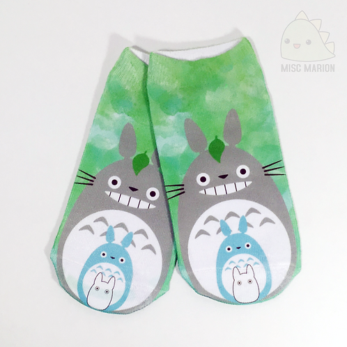 Totoro No-Show Ankle Socks