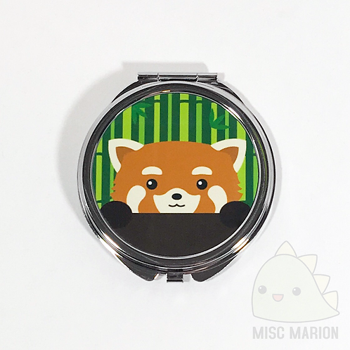 Red Panda Pocket Mirror