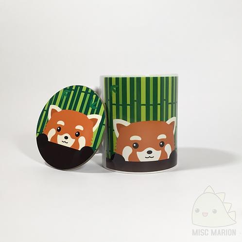 Red Panda Mug & Coaster Set