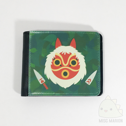 Princess Mononoke Mask Bifold Wallet
