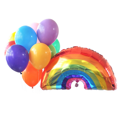 Over the Rainbow Party Balloons
