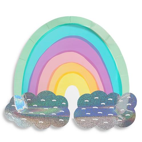 Dreamy Rainbow Party Plates