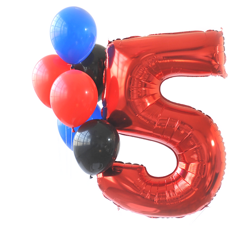Red Mega Number Balloon