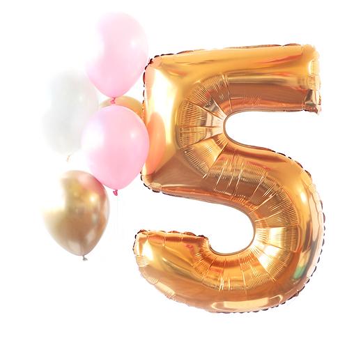 Gold Mega Number Balloon