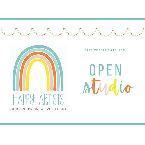 Gift Certificate: Open Studio