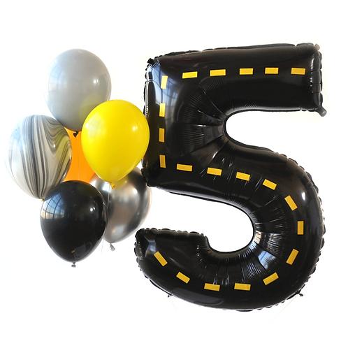 Construction Zone Mega Number Balloon Kit
