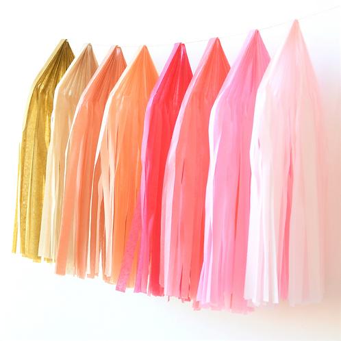 Boho Rainbow Tissue Paper Tassel Garland Kit