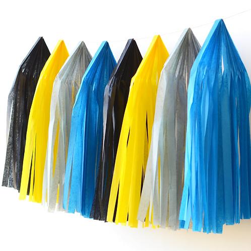 Batman Tissue Paper Tassel Garland Kit