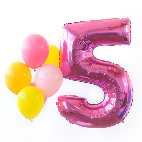 Hot Pink Mega Number Balloon