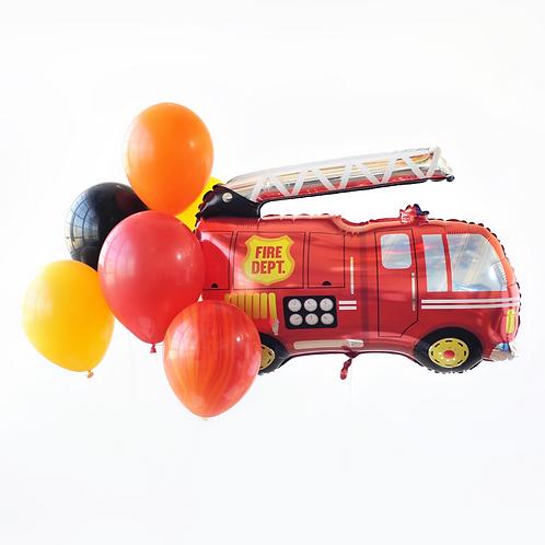 Fire Truck Foil Balloon