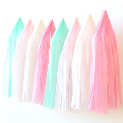 Kitten Tissue Paper Tassel Garland Kit