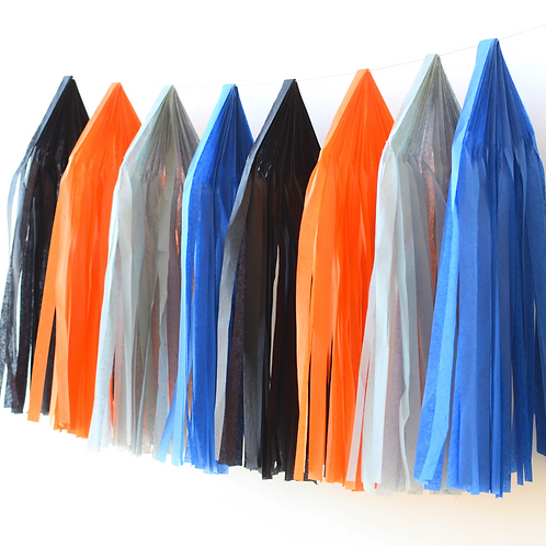 Outer Space Tissue Paper Tassel Garland Kit
