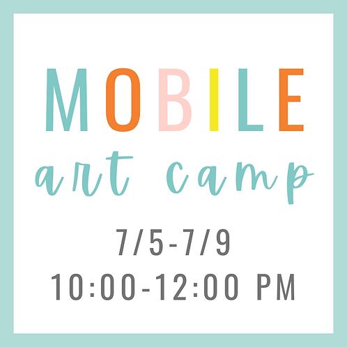 Mobile Summer Art Camp 7/5-7/9 10:00-12:00 PM
