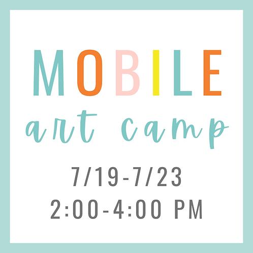 Mobile Summer Art Camp 7/19-7/23 2:00-4:00 PM