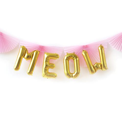 MEOW Gold Foil Balloon Set