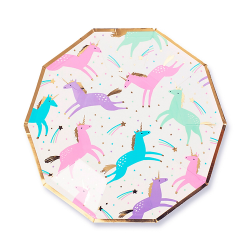 Magical Unicorn Party Plates