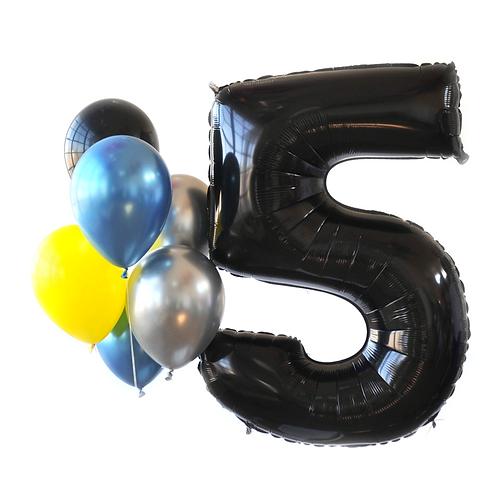 Black Mega Number Balloon