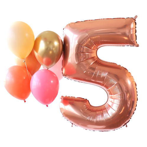 Rose Gold Mega Number Balloon