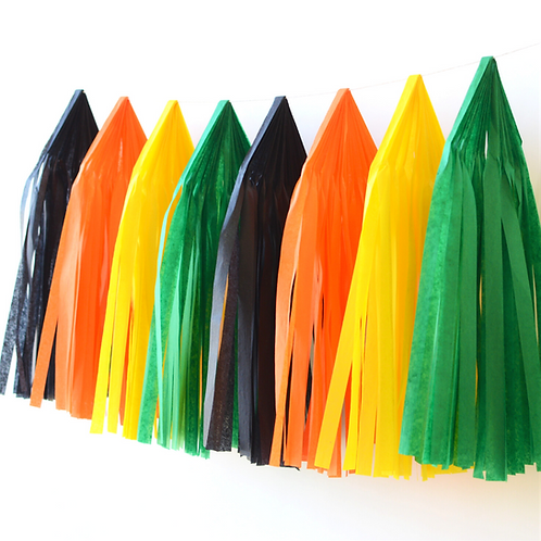Jungle Tissue Paper Tassel Garland Kit