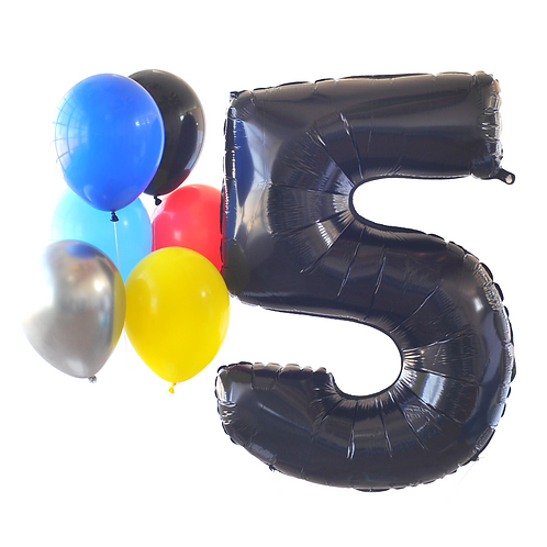 Black Mega Number Balloon