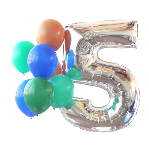 Silver Mega Number Balloon