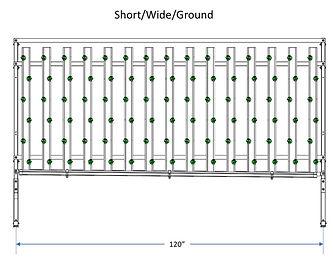 HydroFresh vertical hydroponic system short/wide/ground
