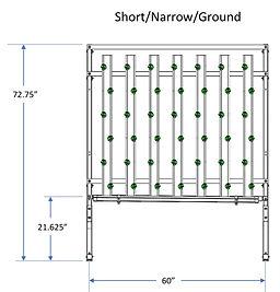 HydroFresh hydroponic system short/narrow/ground