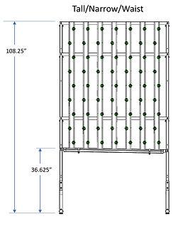 HydroFresh hydroponic system tall/narrow/waist
