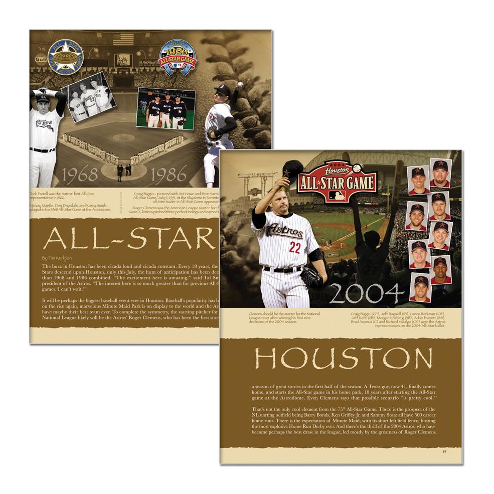 MLB/Astros 2004 All-Star Magazine Spread