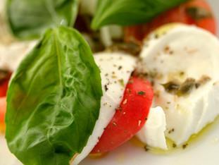 Salade mozzarella aux deux agrumes