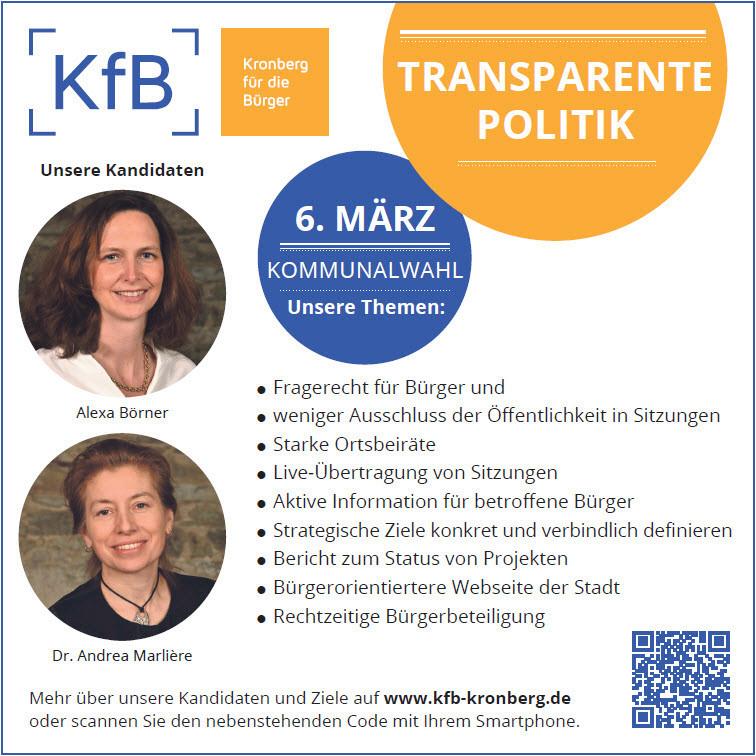 KfB für mehr Transparenz