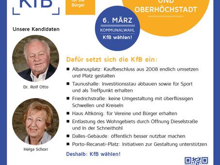 Für Schönberg und Oberhöchstadt