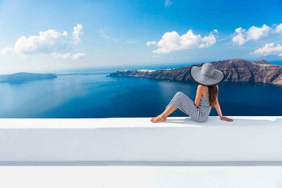 Europe Greece Santorini travel vacation.