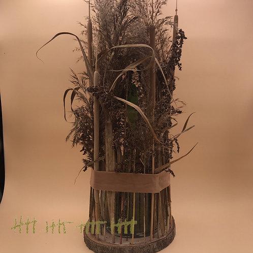 Amaryllis im Glas ummantelt mit Natur