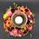 Thumbnail: Blütenkranz mit Kerze im Glas